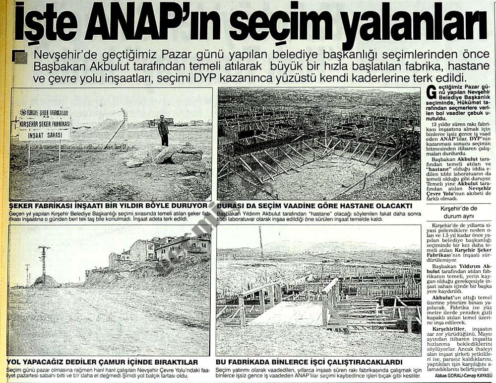 İşte ANAP'ın seçim yalanları