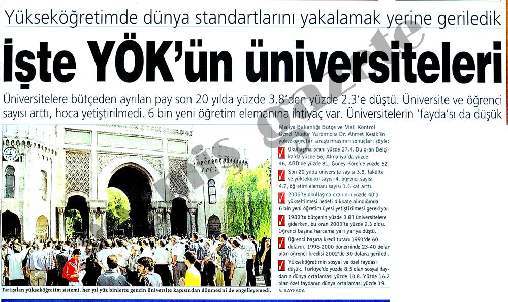İşte YÖK'ün üniversiteleri