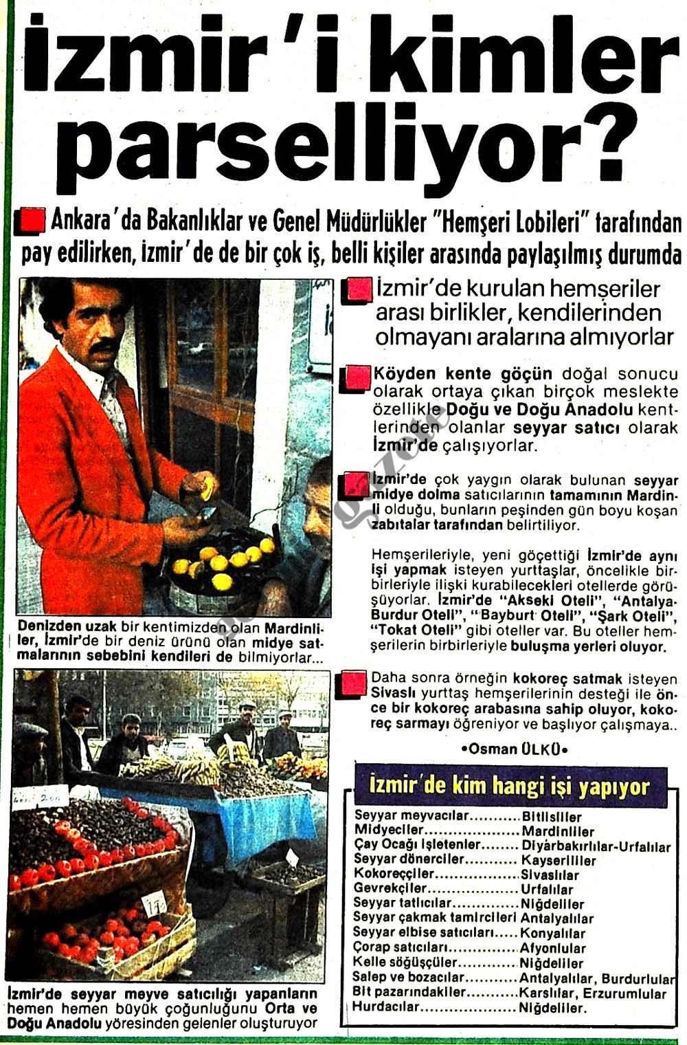 İzmir'i kimler parselliyor?