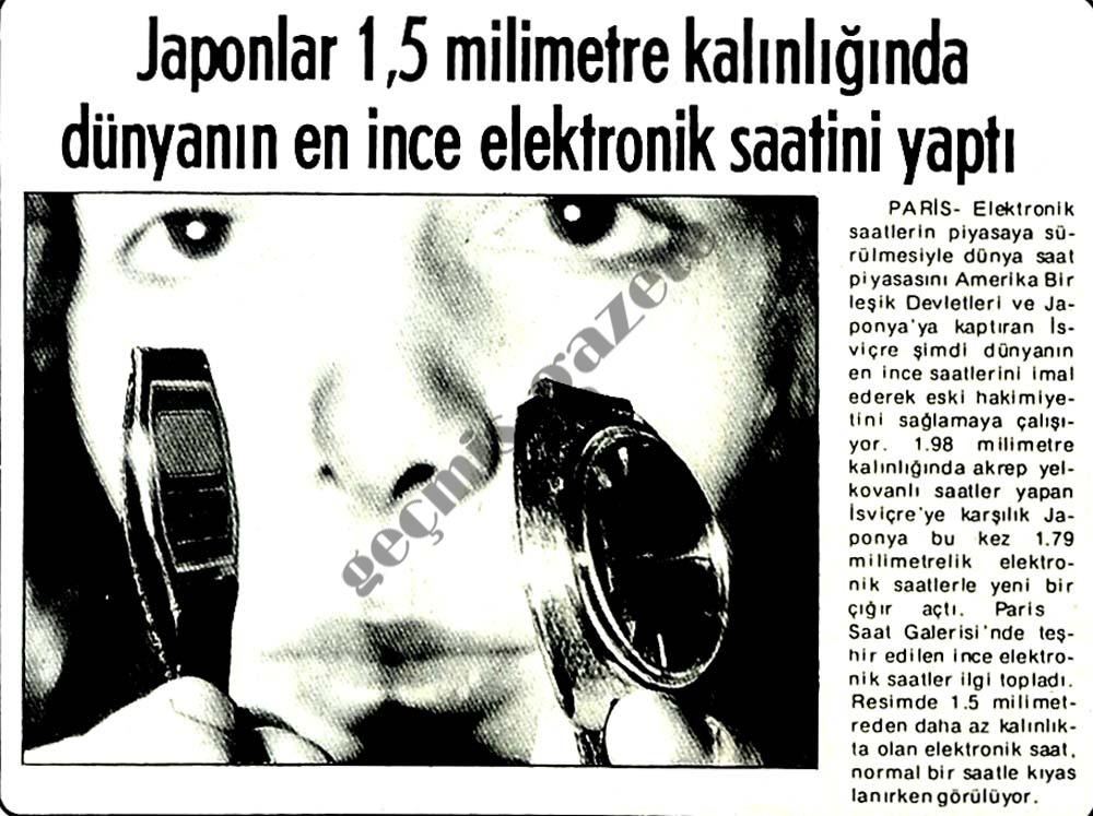 Japonlar 1,5 milimetre kalınlığında dünyanın en ince elektronik saatini yaptı