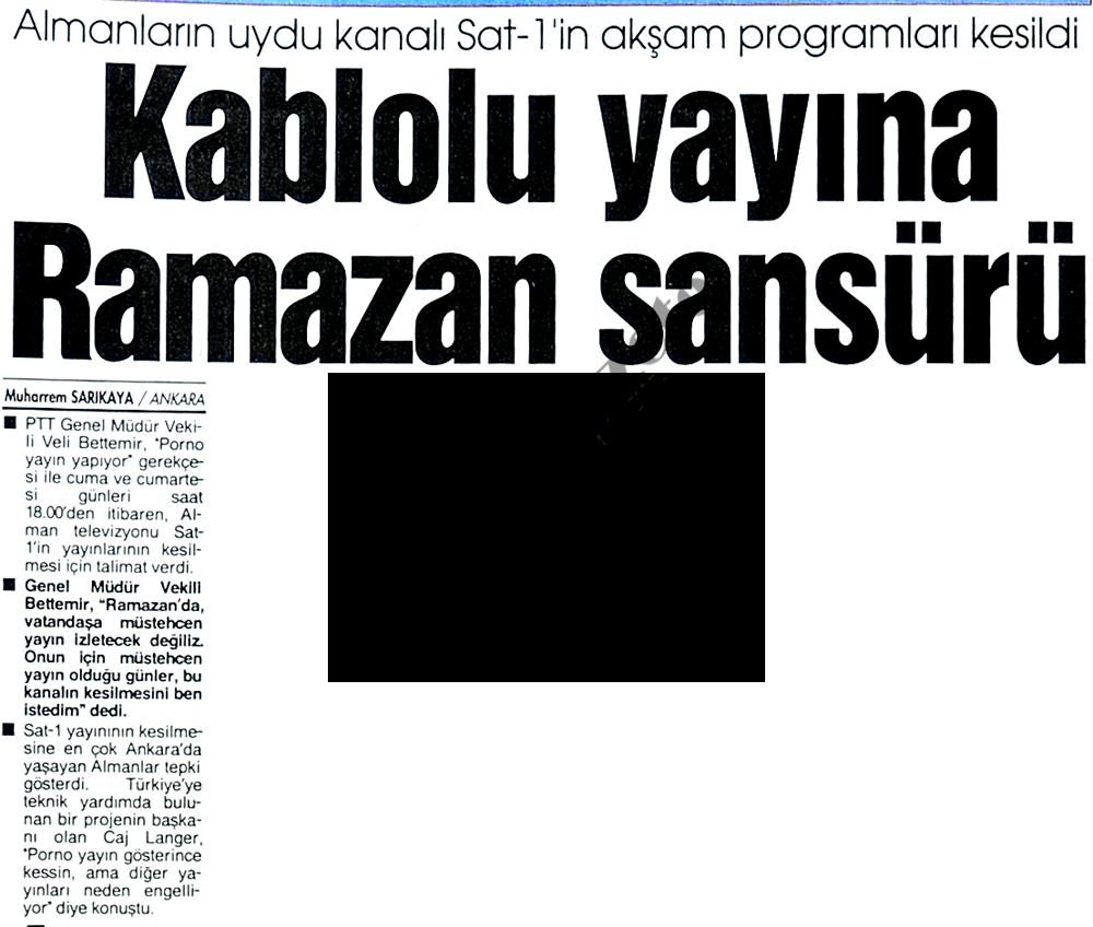 Kablolu yayına Ramazan sansürü