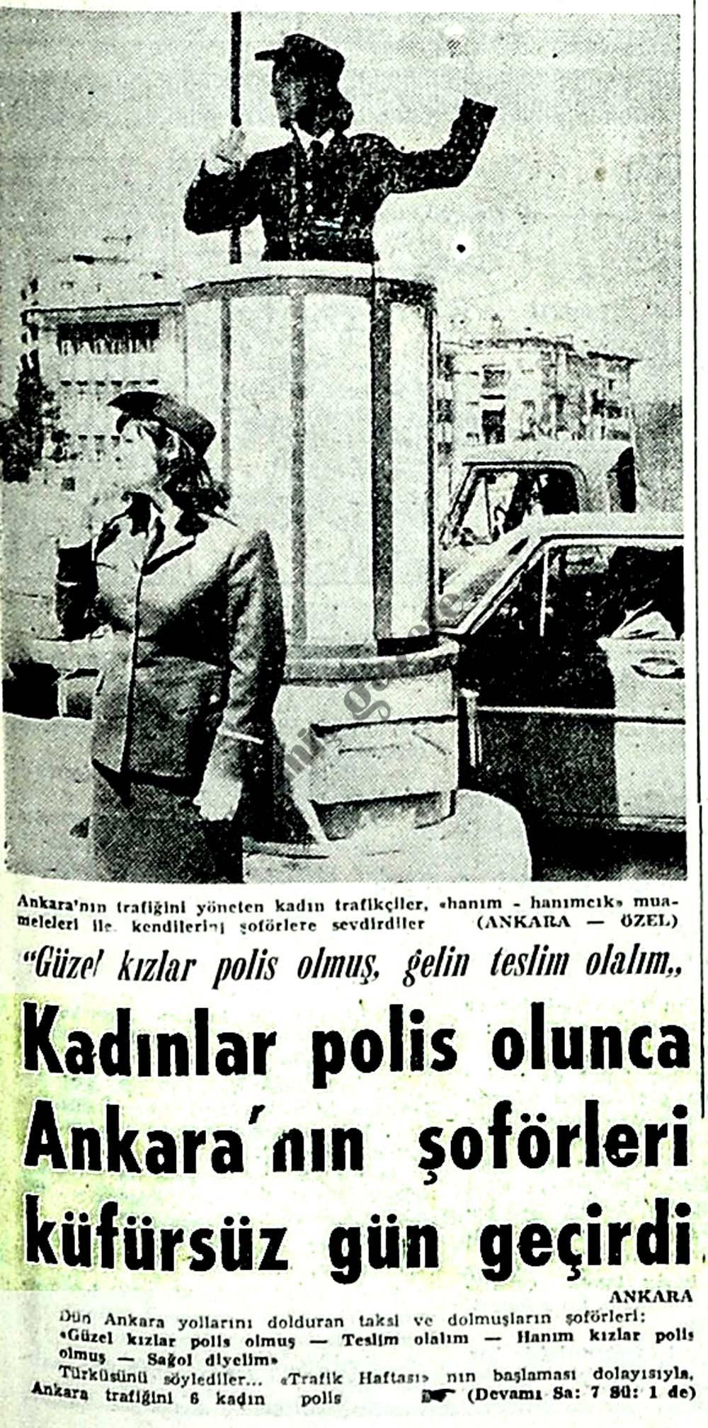 Kadınlar polis olunca Ankara'nın şoförleri küfürsüz gün geçirdi