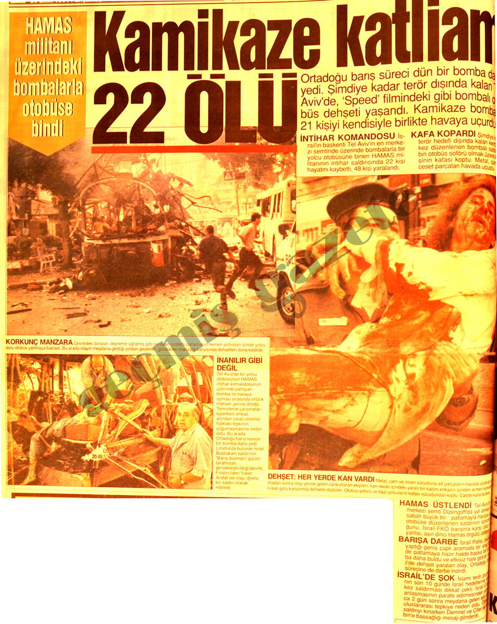 Kamikaze katliamı 22 ölü