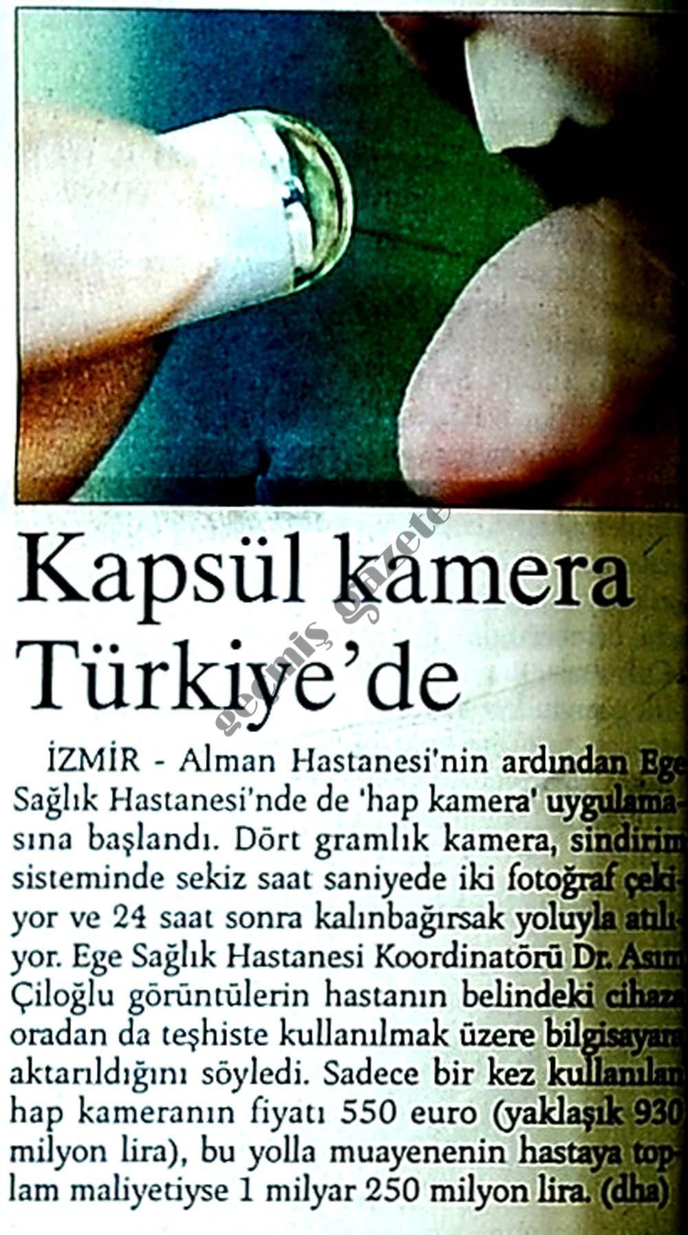 Kapsül kamera Türkiye'de