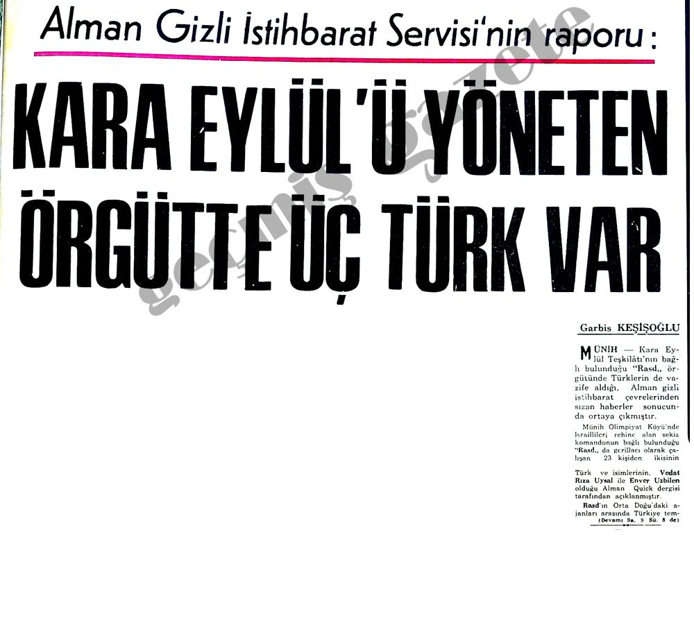 Kara Eylül'ü yöneten örgütte üç Türk var