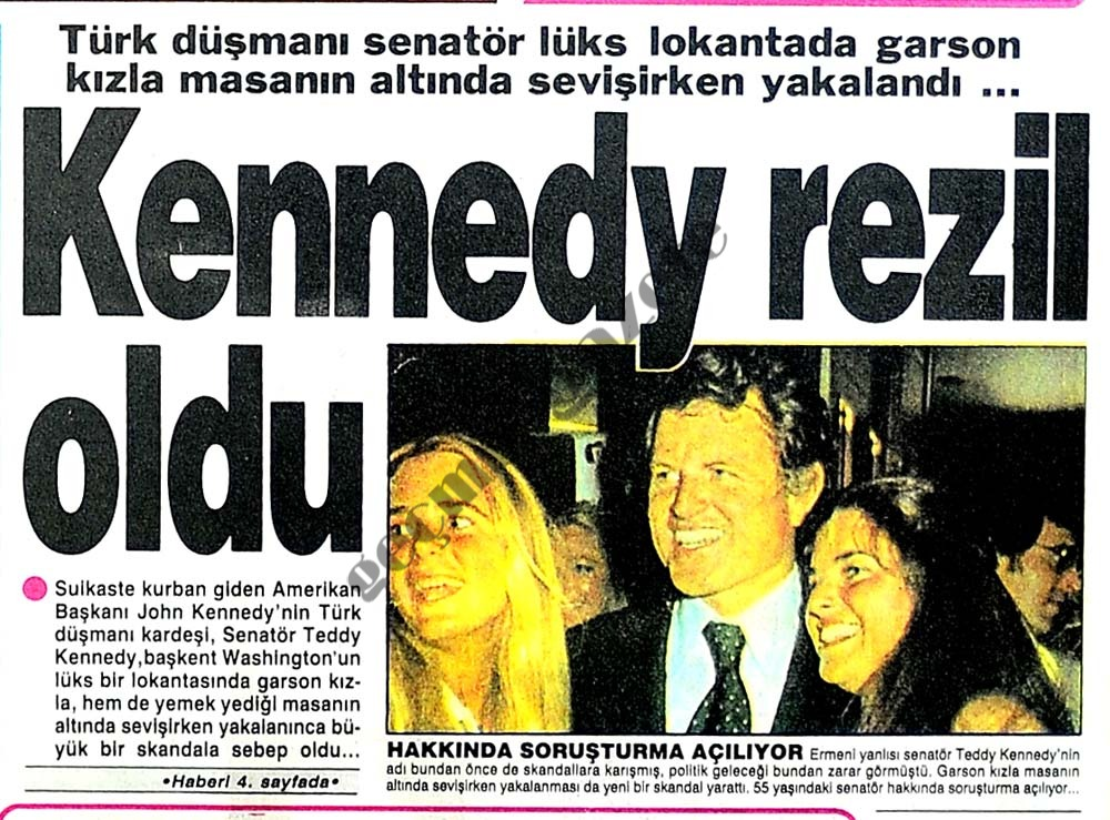 Kennedy rezil oldu