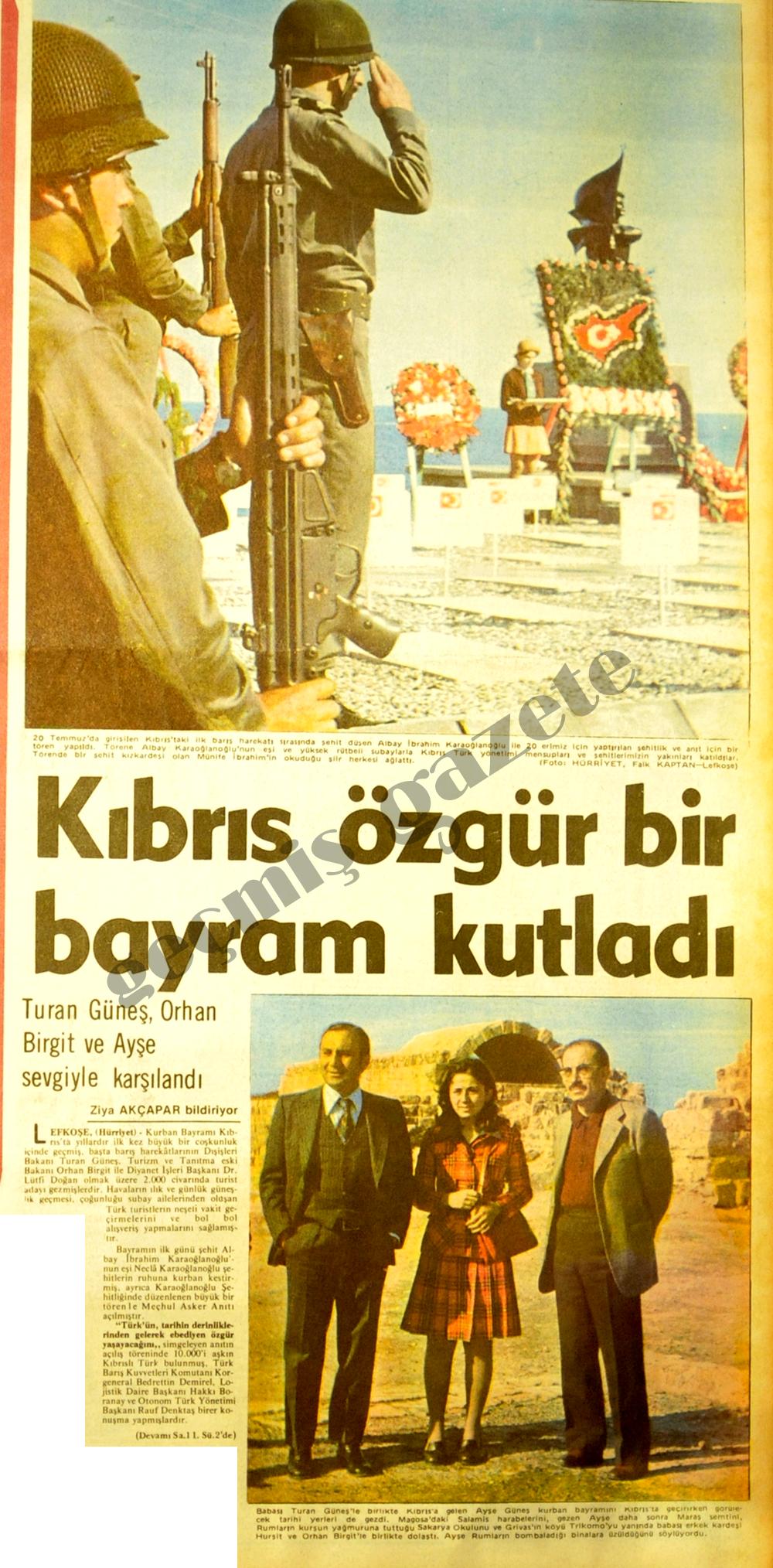 Kıbrıs özgür bir bayram kutladı