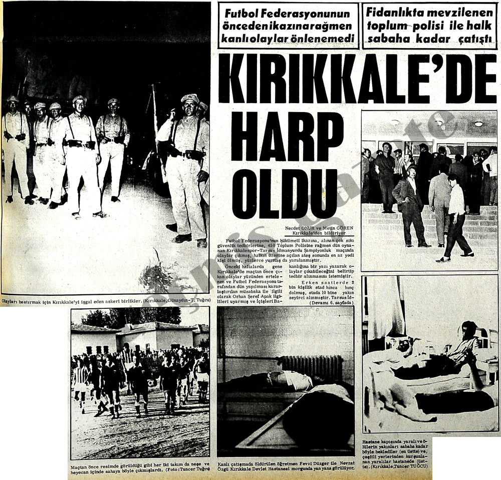Kırıkkale'de harp oldu