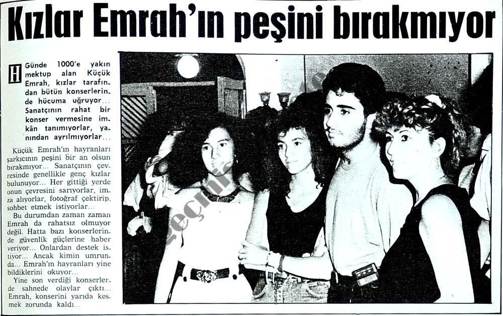 Kızlar Emrah'ın peşini bırakmıyor