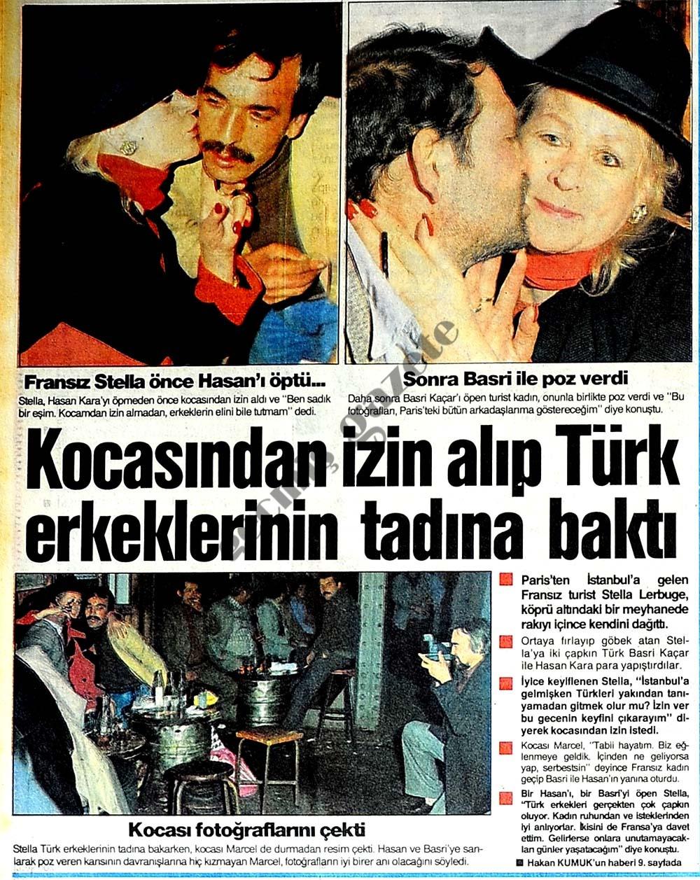 Kocasından izin alıp Türk erkeklerinin tadına baktı