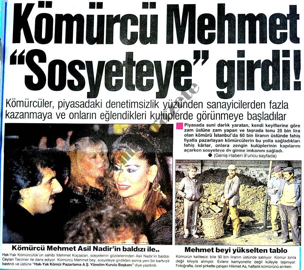 """Kömürcü Mehmet """"Sosyeteye"""" girdi!"""