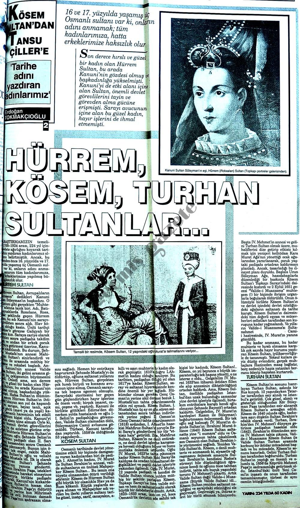 Kösem Sultan'dan Tansu Çiller'e