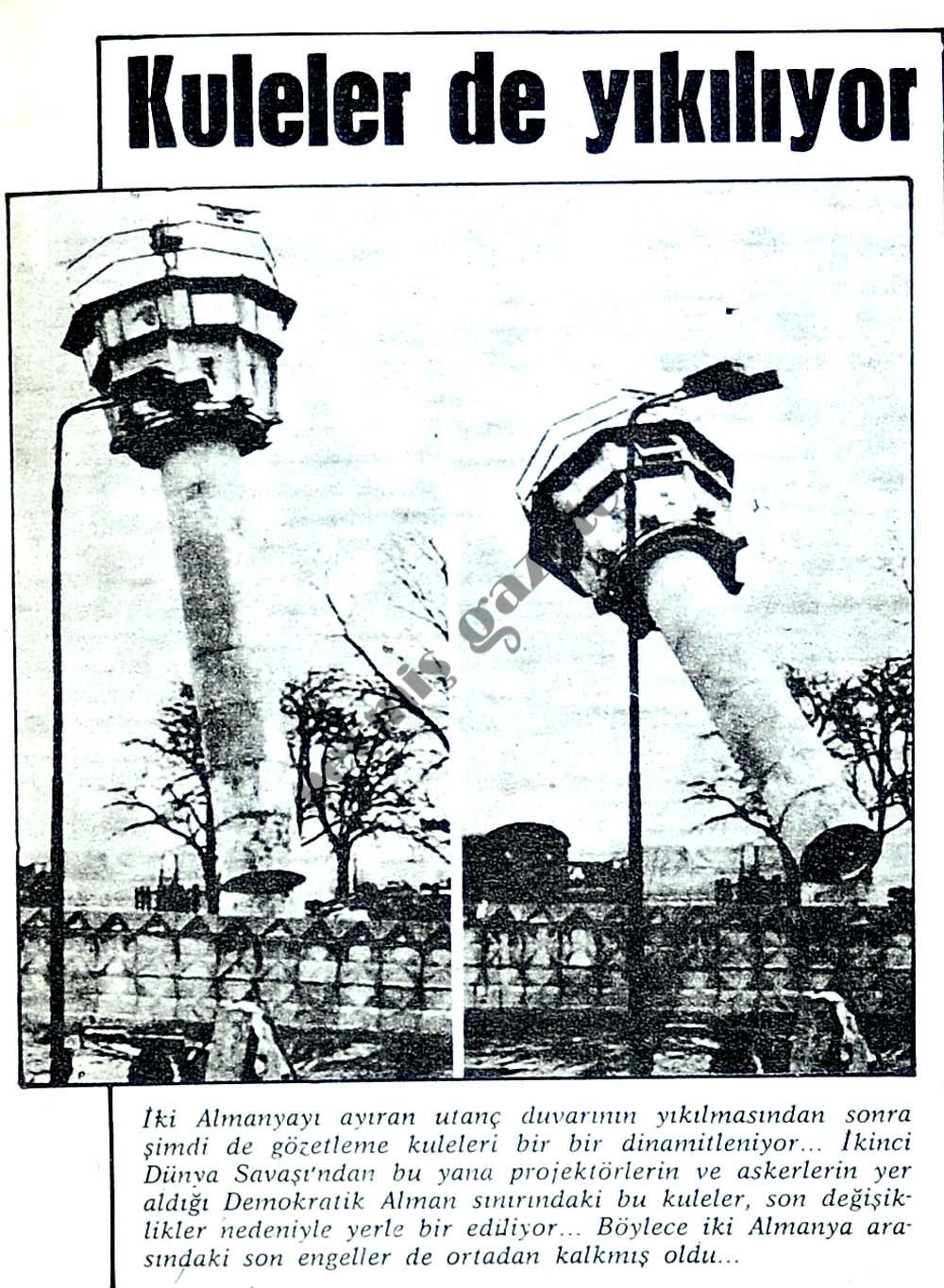 Kuleler de yıkılıyor