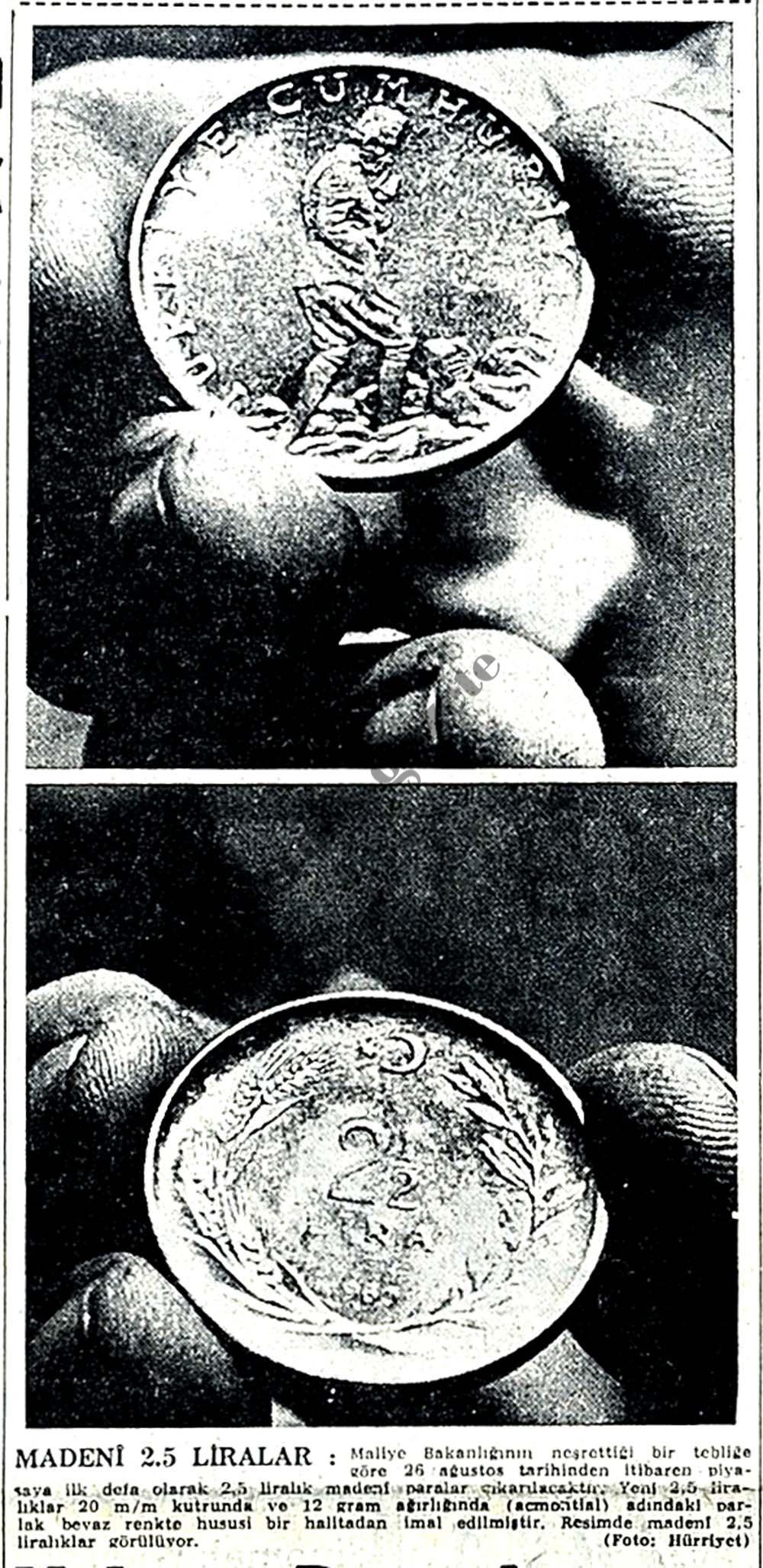 Madeni 2.5 liralar