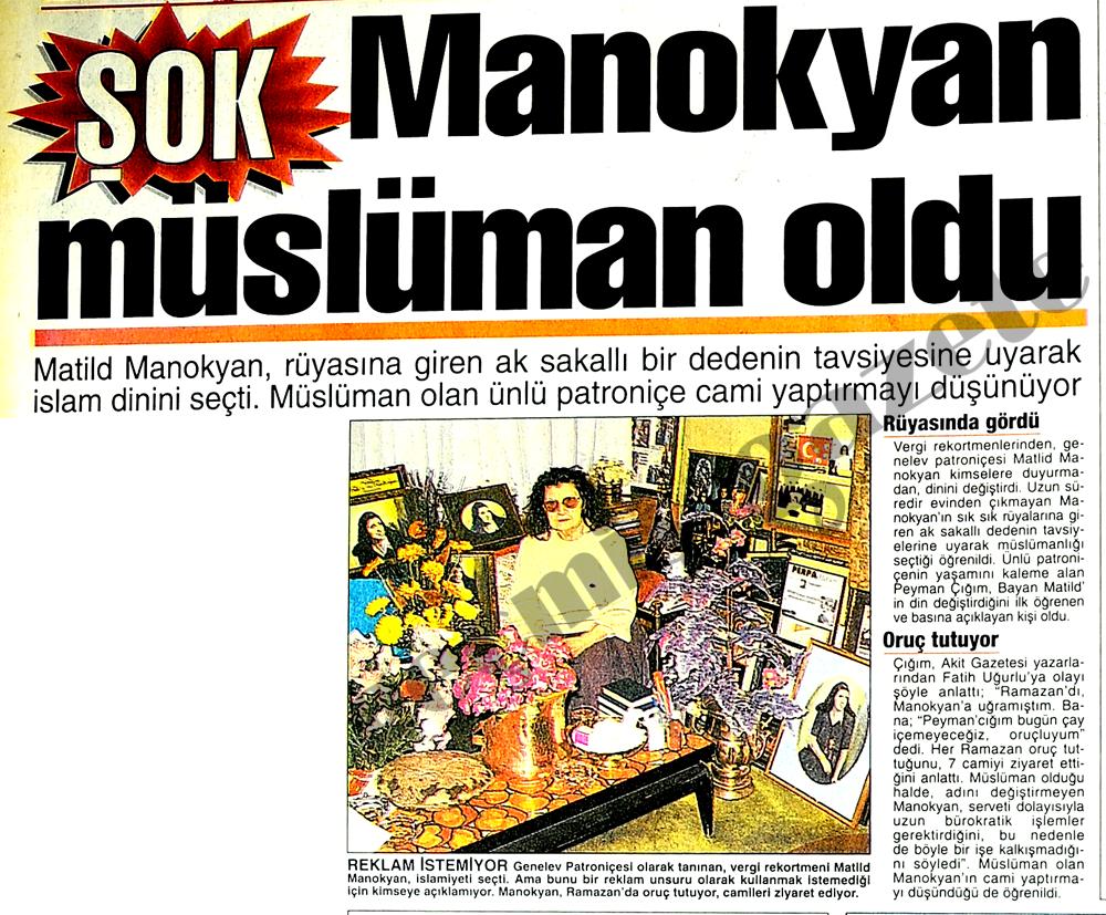 Manokyan müslüman oldu