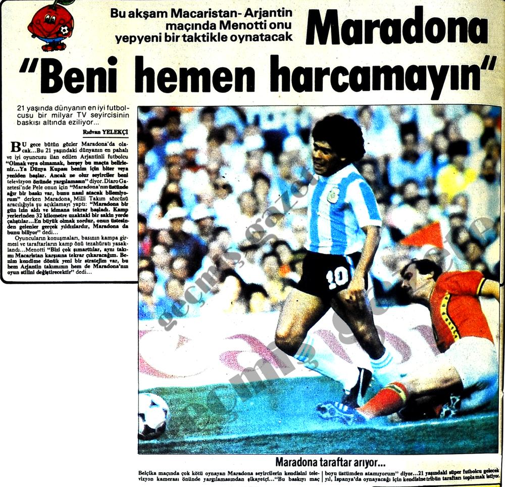"""Maradona """"Beni harcamayın"""""""
