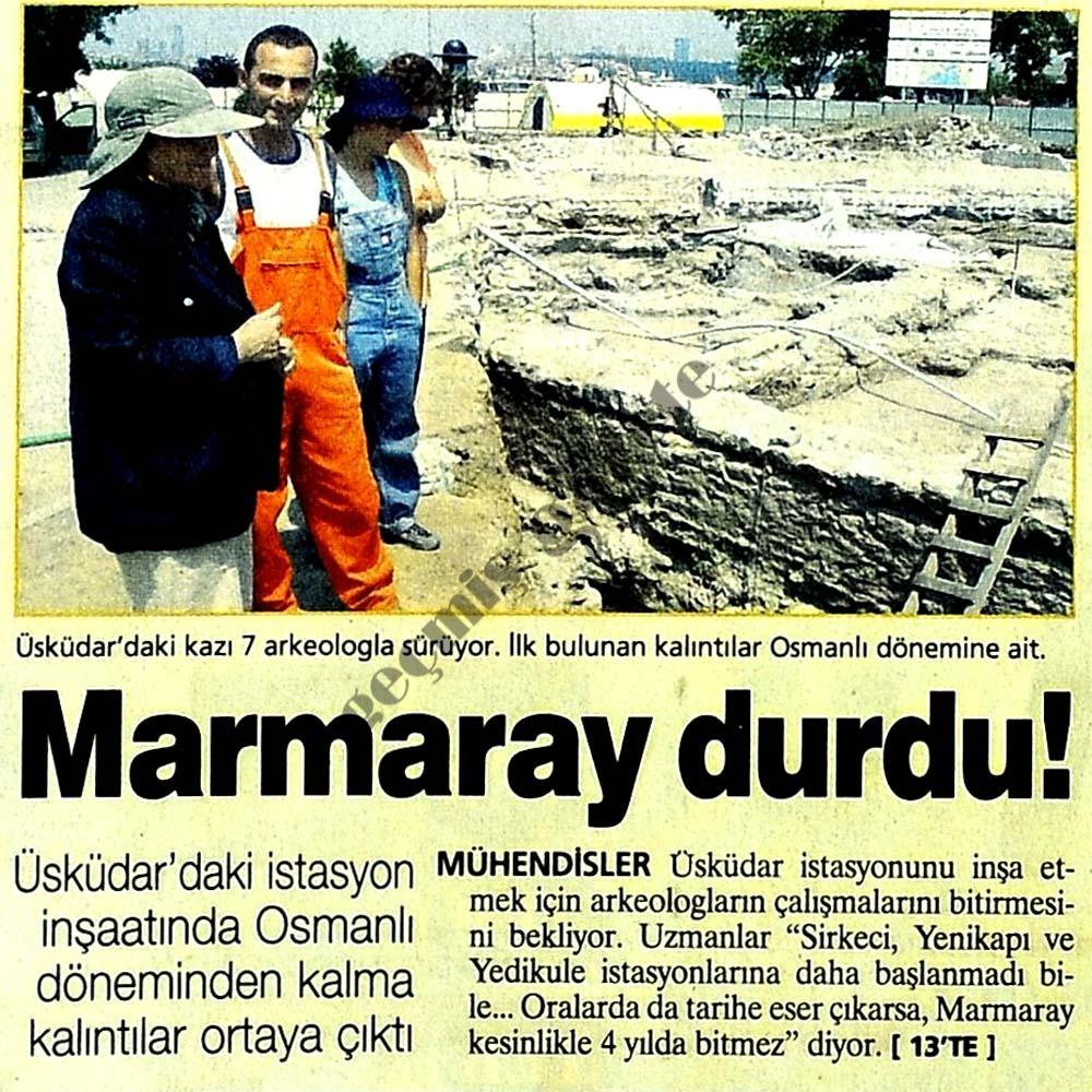 Marmaray durdu!