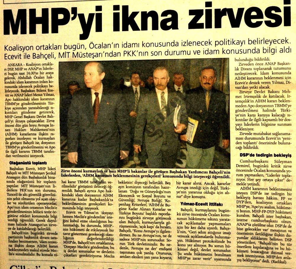 MHP'yi ikna zirvesi