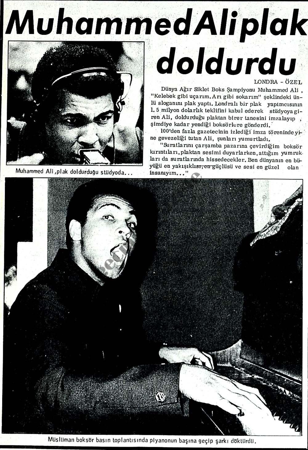 Muhammed Ali plak doldurdu