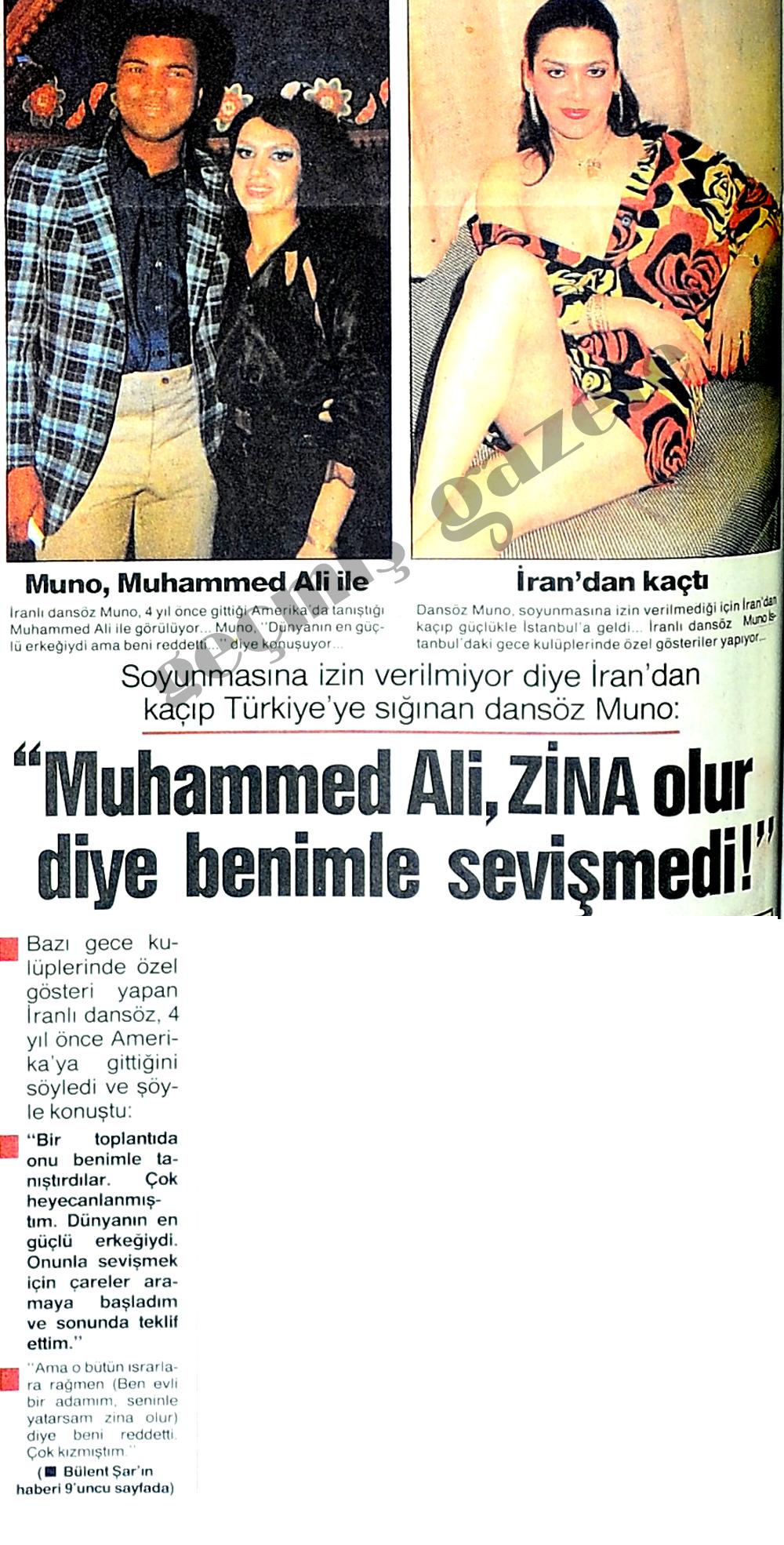 Muhammed Ali, zina olur diye benimle sevişmedi