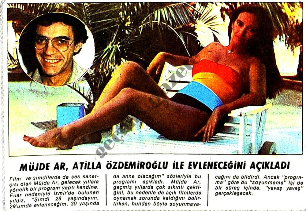 Müjde Ar, Atilla Özdemiroğlu ile evleneceğini açıkladı