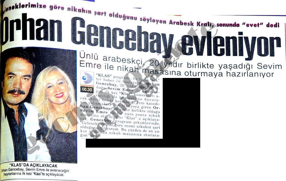 Orhan Gencebay evleniyor