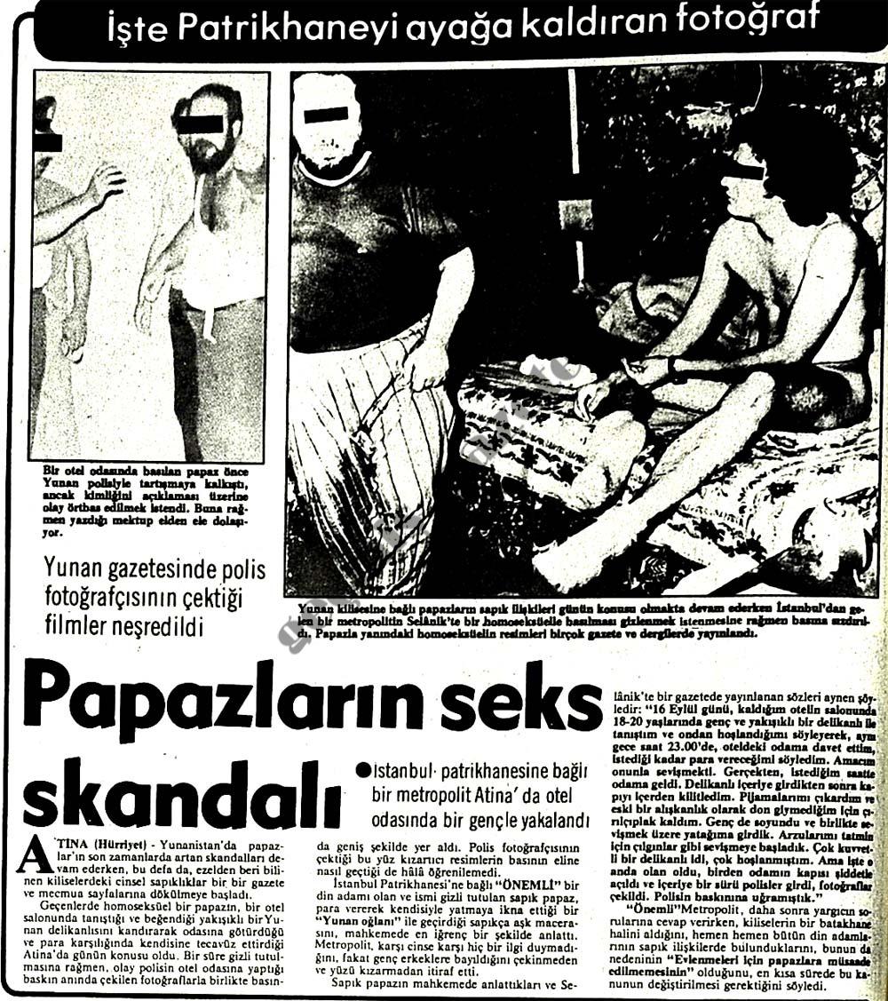 Papazların seks skandalı
