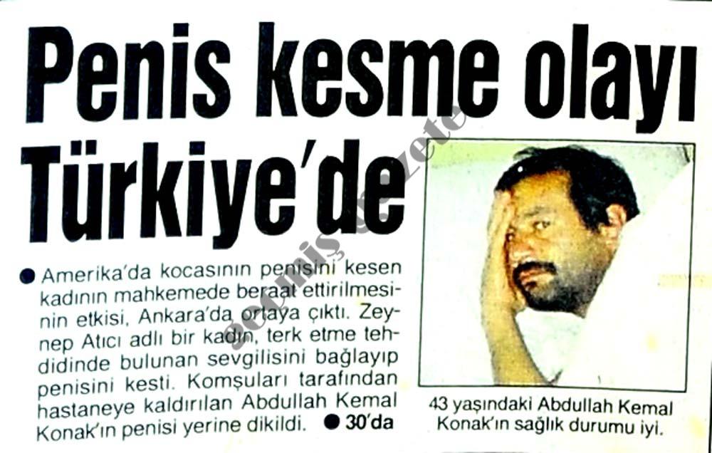 Penis kesme olayı Türkiye'de