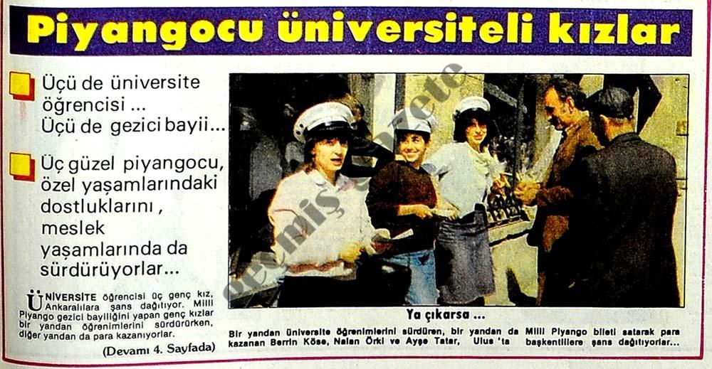 Piyangocu üniversiteli kızlar