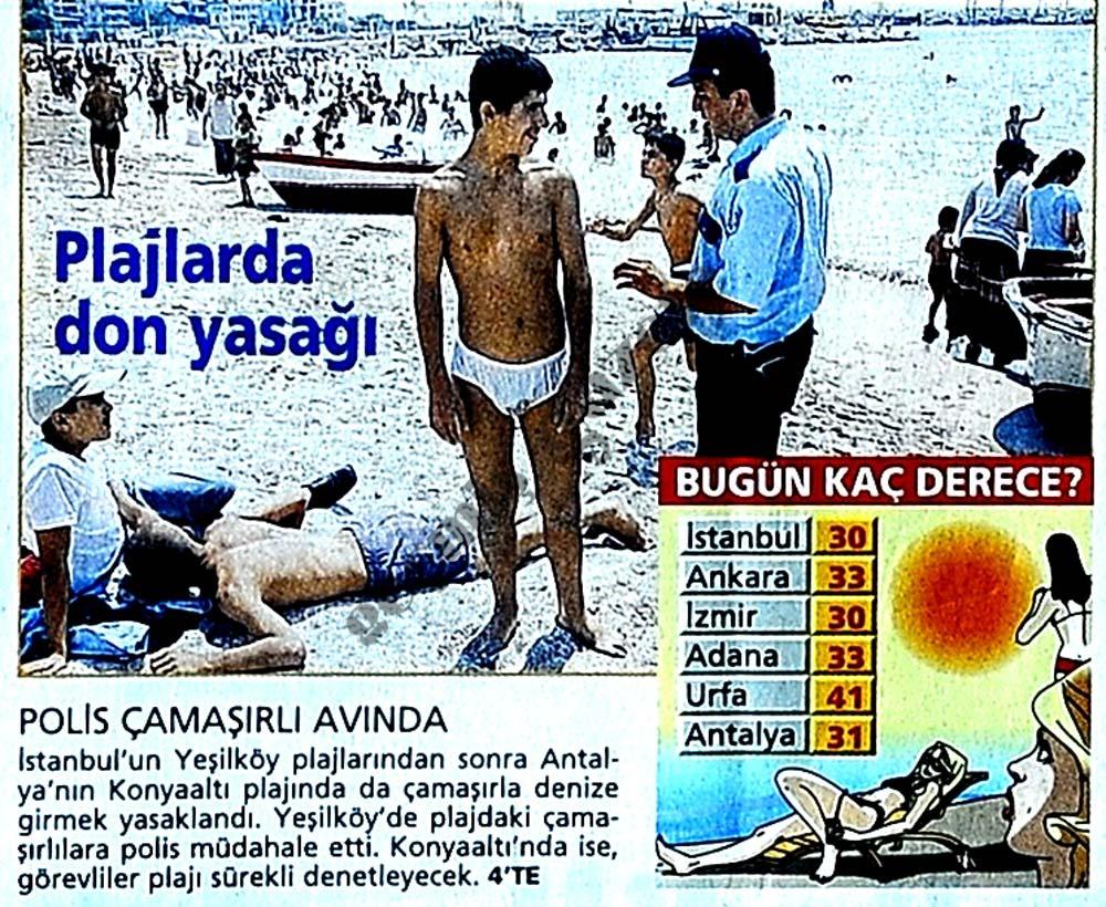 Plajlarda don yasağı