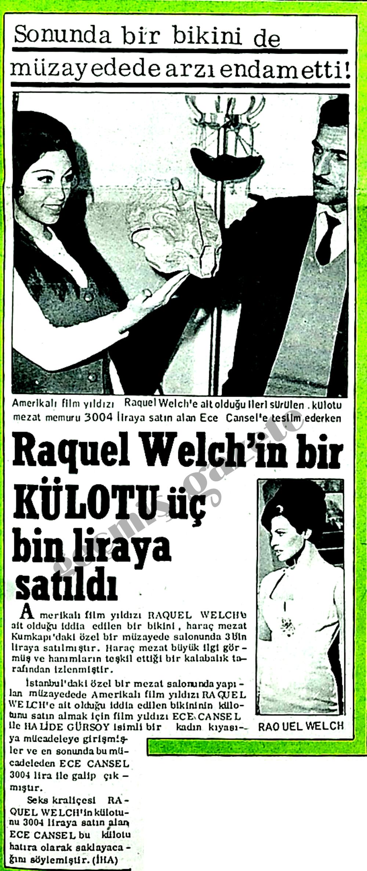 Raquel Welch'in bir külotu üç bin liraya satıldı