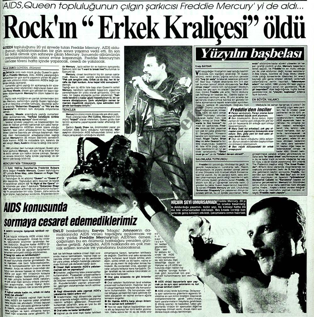 """Rock'ın """"Erkek Kraliçesi"""" öldü"""