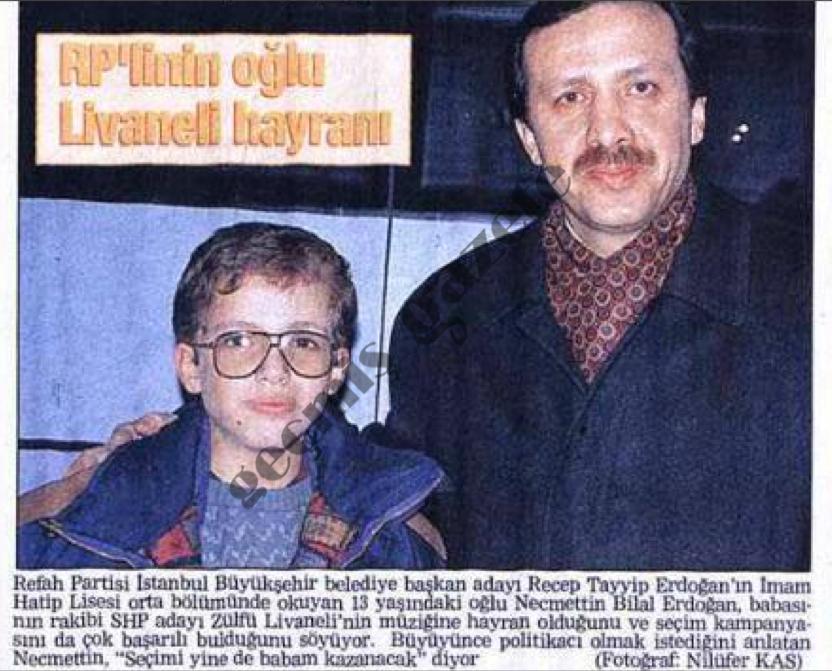 RP'linin oğlu Livaneli hayranı