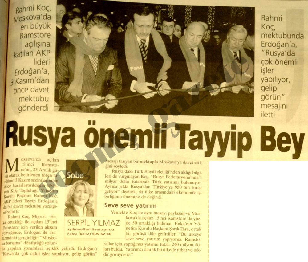 Rusya önemli Tayyip Bey
