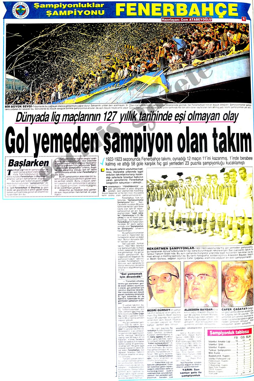 Şampiyonluklar şampiyonu Fenerbahçe