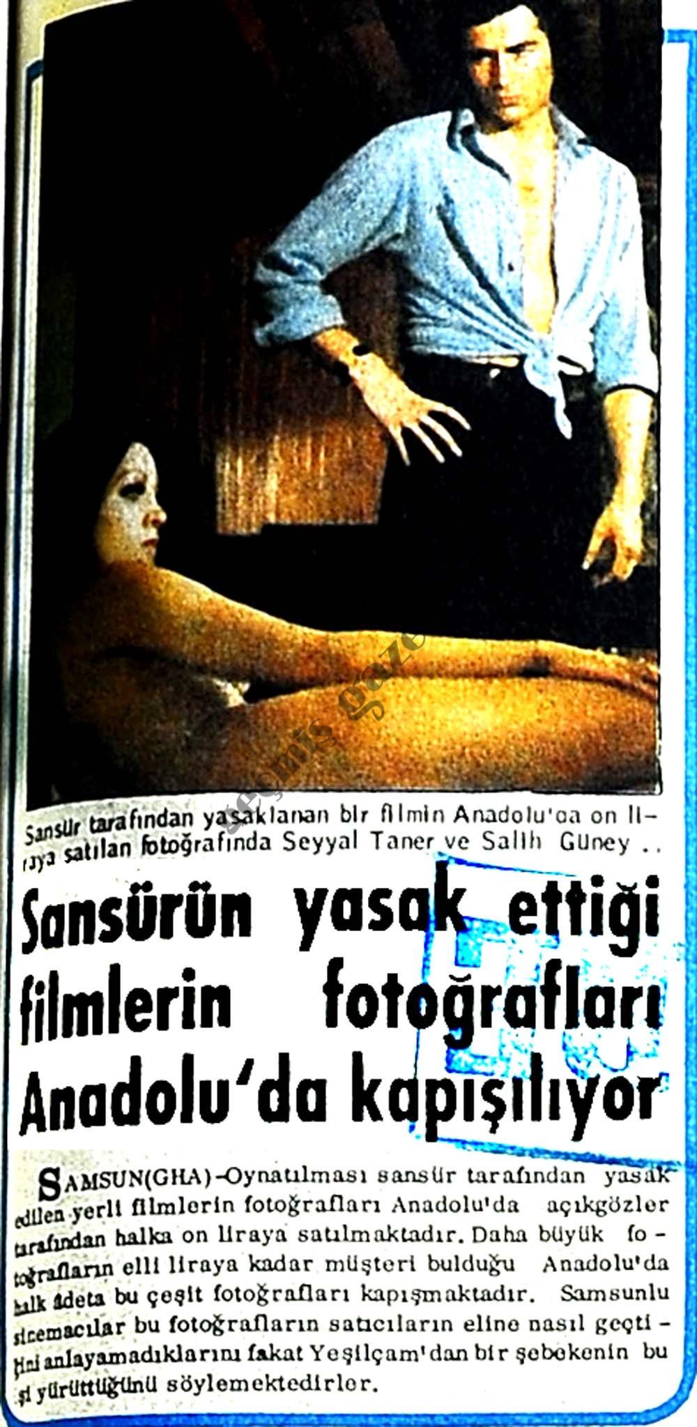 Sansürün yasak ettiği filmlerin fotoğrafları Anadolu'da kapışılıyor