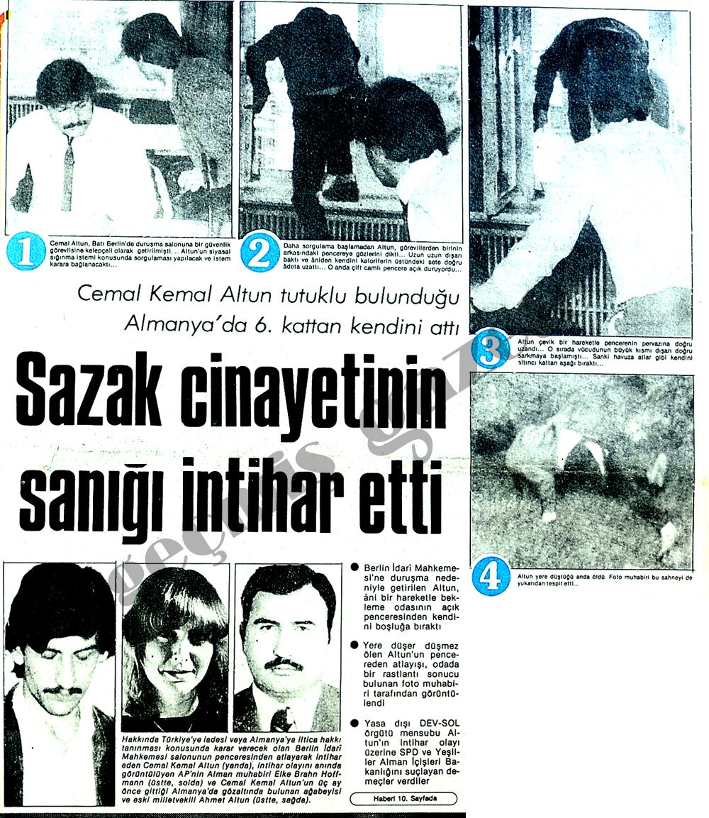 Sazak cinayetinin sanığı intihar etti