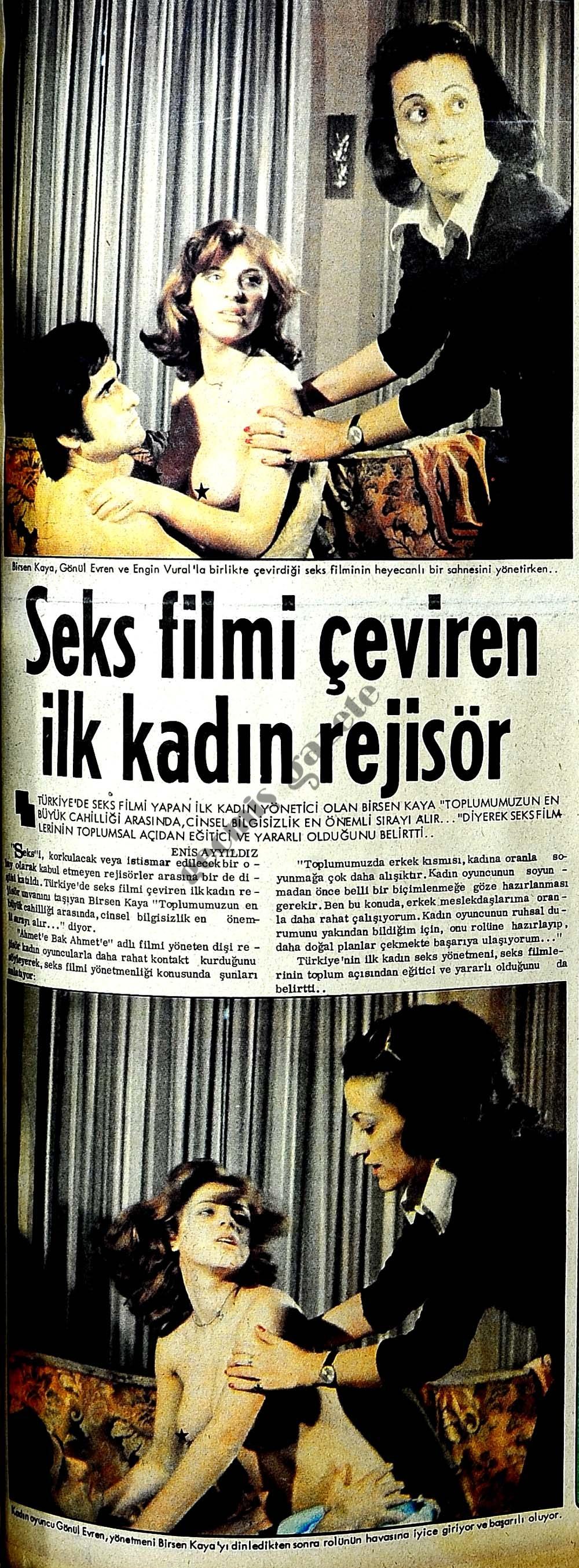 Seks filmi çeviren ilk kadın rejisör