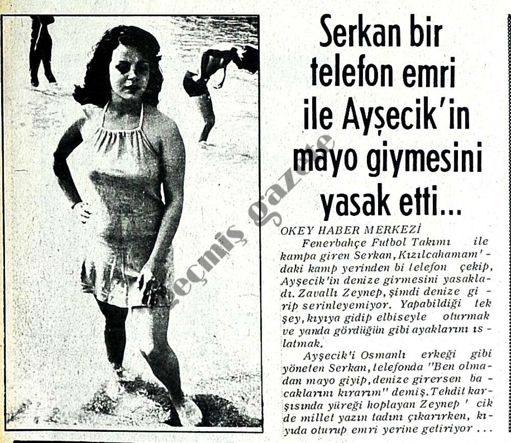 Serkan bir telefon emri ile Ayşecik'in mayo giymesini yasak etti