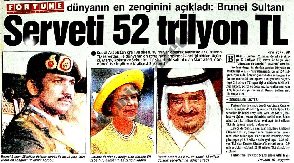 Serveti 52 trilyon TL