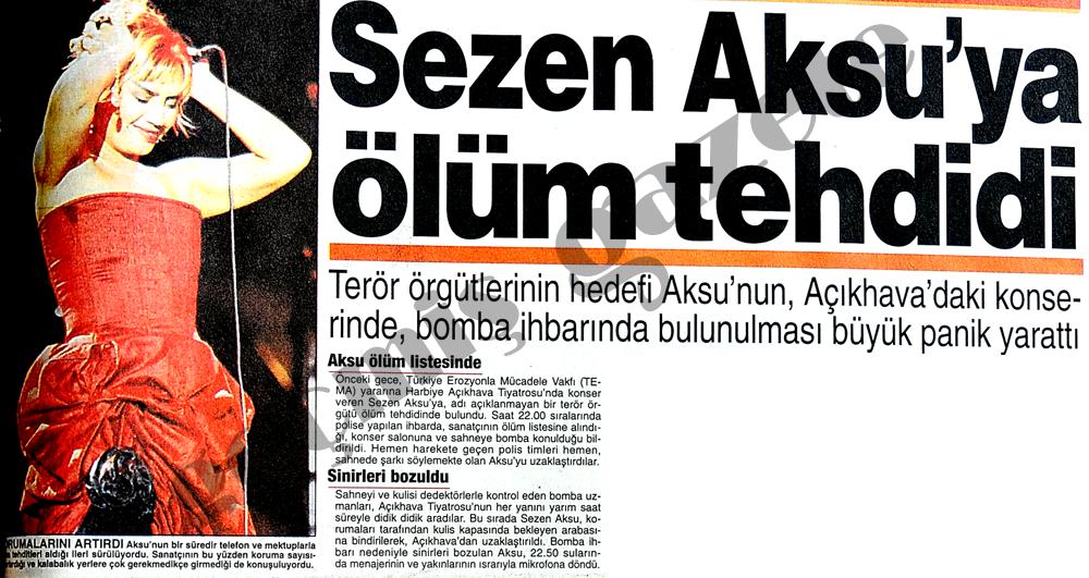 Sezen Aksu'ya ölüm tehdidi
