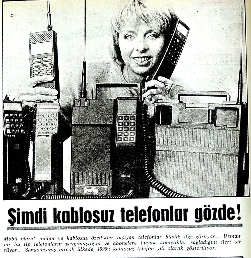 Şimdi kablosuz telefonlar gözde