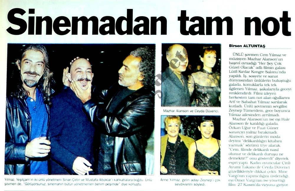 Sinemadan tam not