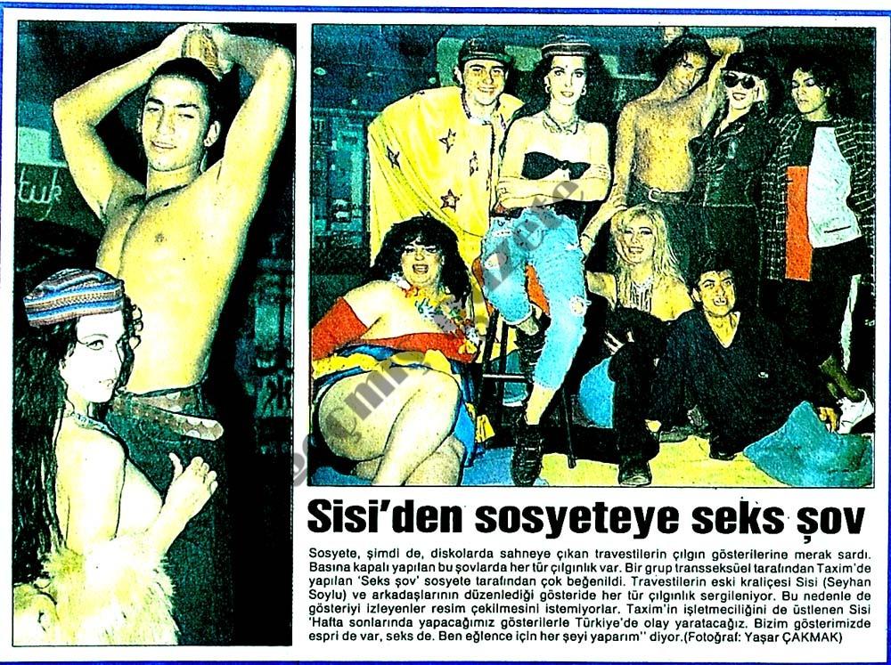 Sisi'den sosyeteye seks şov