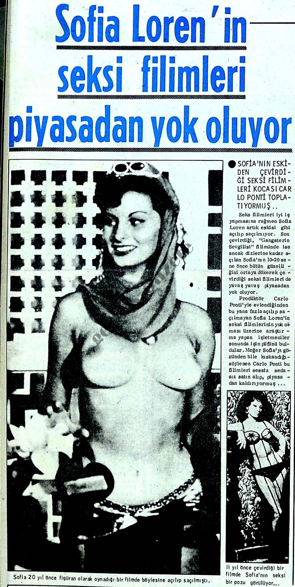 Sofia Loren'in seksi filimleri piyasadan yok oluyor