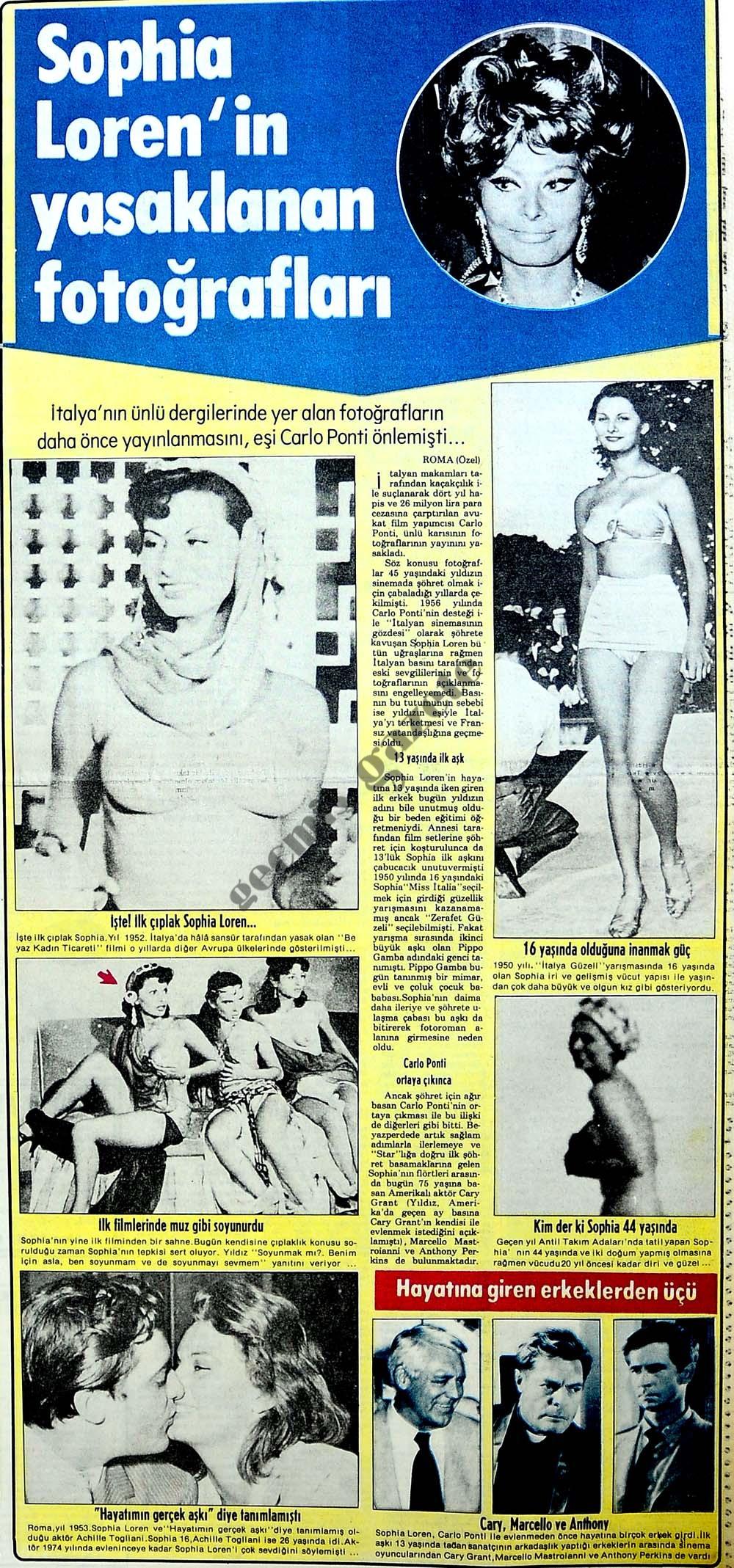 Sophia Loren'in yasaklanan fotoğrafları