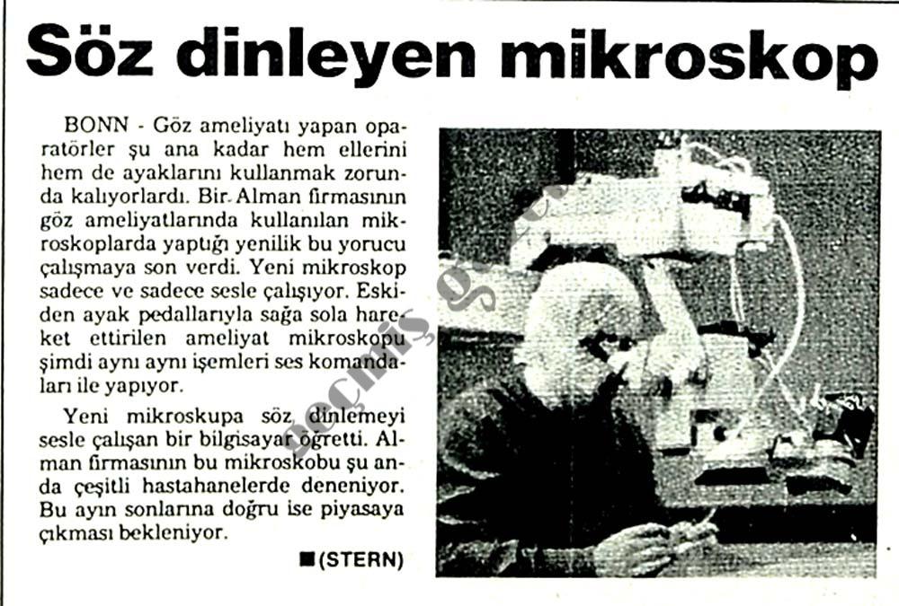 Söz dinleyen mikroskop