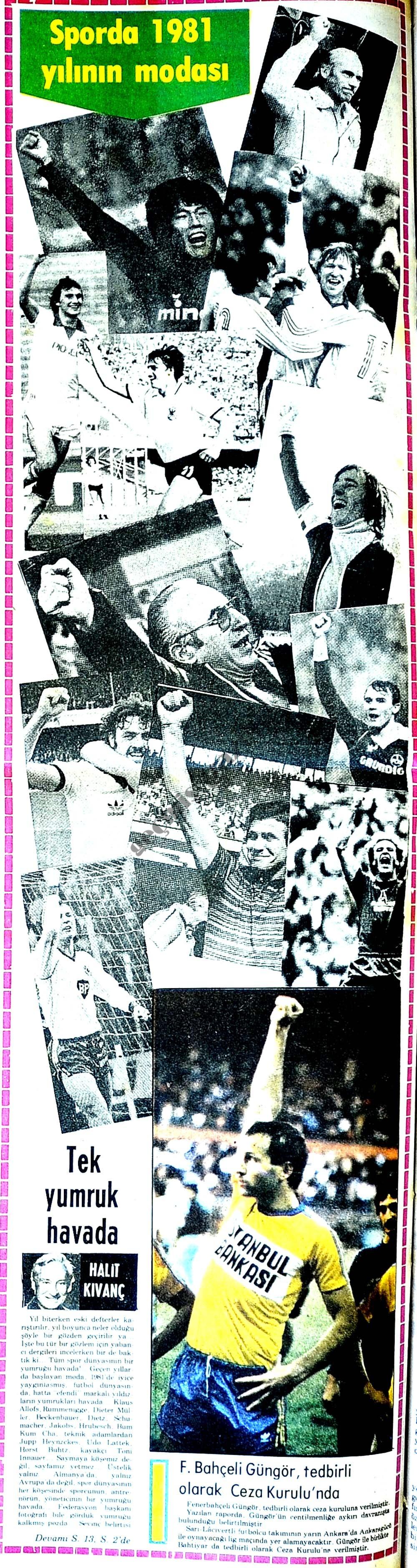 Sporda 1981 yılının modası