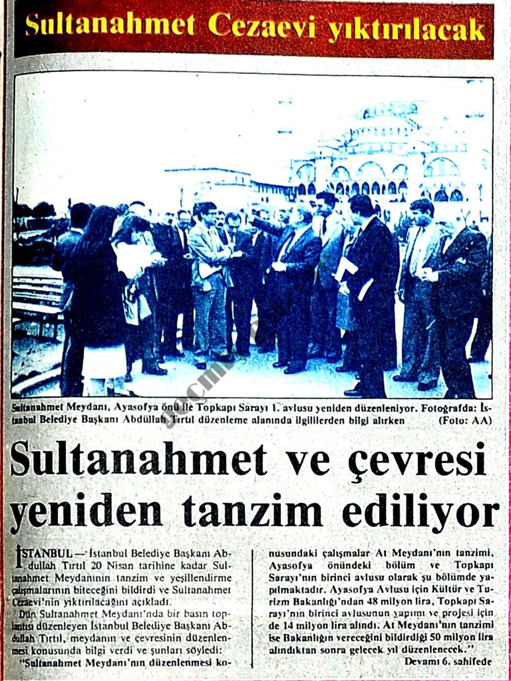 Sultanahmet Cezaevi yıktırılacak