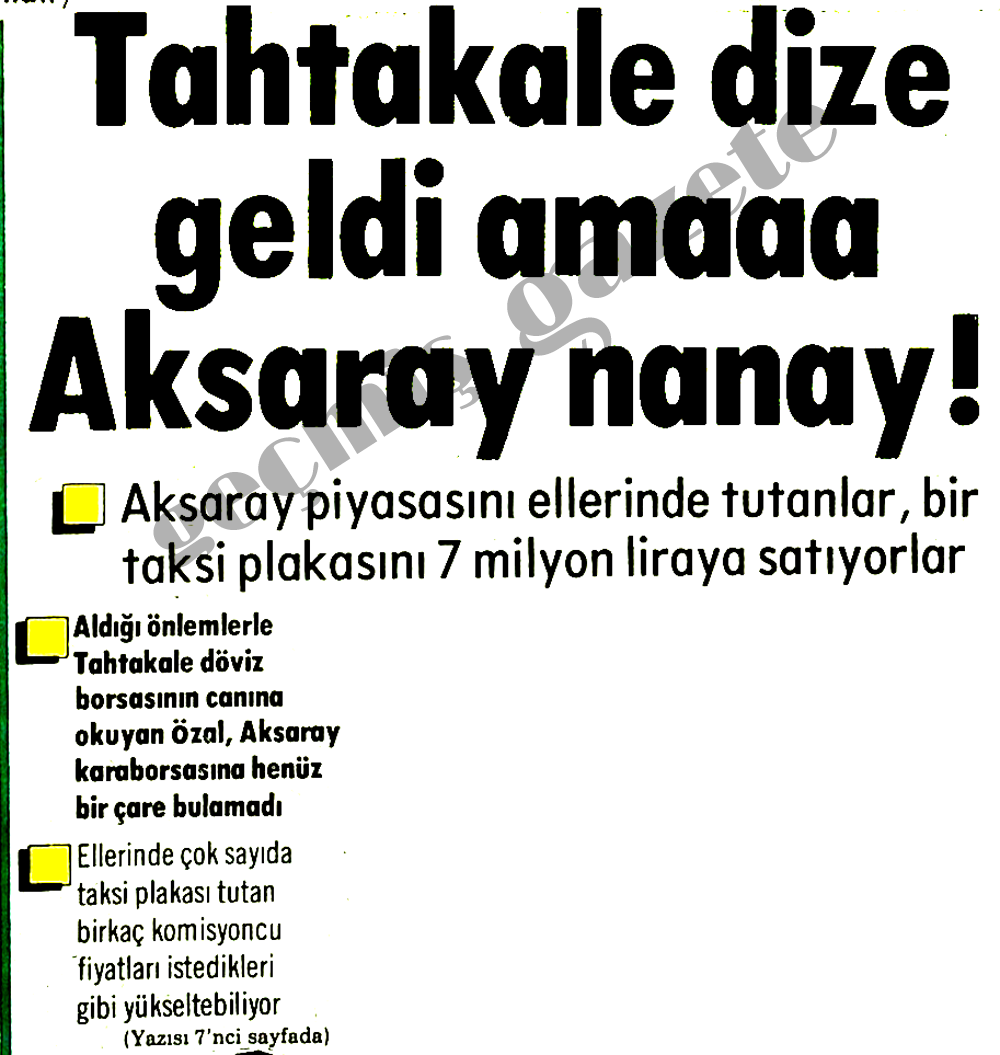 Tahtakale dize geldi amaaa Aksaray nanay!